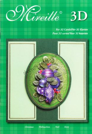 32 Christmas Noel Designs A5 3D Decoupage Paper Craft Book
